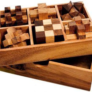 casse-tête en bois coffret