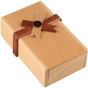 casse-tête en bois tirelire