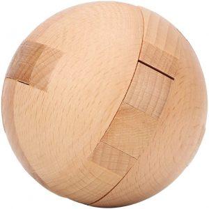 casse-tete en bois sphere