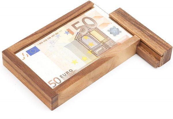casse-tete en bois boite a billets